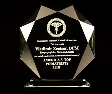 Awarded America's Top Podiatrist & Foot Surgeon 2011 - 2018